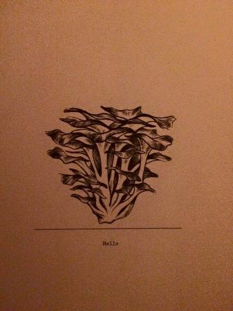 Hen of the  Wood : lovely menu