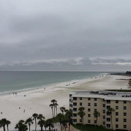 The Palm Bay Club: View of beach from balcony.