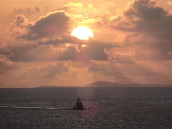 sunset off of cruise ship off the coast of st thomas picture of rh tripadvisor com