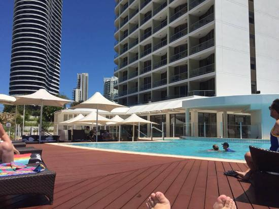 The top unheated pool picture of sofitel gold coast for Pool show qld