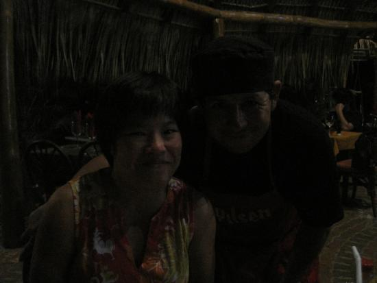 Playa Grande, Costa Rica: me and the chef (sorry the picture did not come out dark)