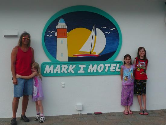 Mark I Motel: Mark 1 sign