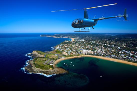 Somersby, Australia: My Heli over Terrigal Beach. NSW