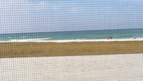 Siesta Sands on the Beach: View through window screen