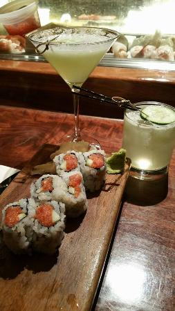 Blue Ribbon Sushi Bar & Grill - The Cosmopolitan of Las Vegas : Basic sushi and small and overpriced drinks.