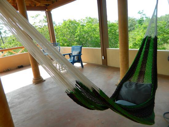 Crooked Tree, Belize: Upper deck