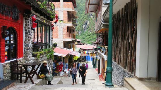 The main pedestrian walk outside of the El MaPi Hotel.