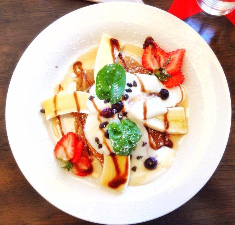 Marcoola, Australien: Delicious pancakes. The best I've ever had in the world!