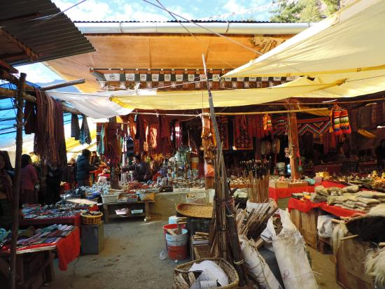 ‪Thimphu's Weekend Market‬