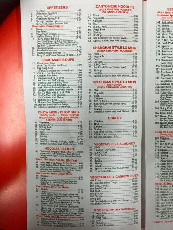 Ajax, Canada: appetizers/ soup/ bean sprouts/ noodles/ cantonese noodles/ shanghai/szechuan/ congee/ vegetable