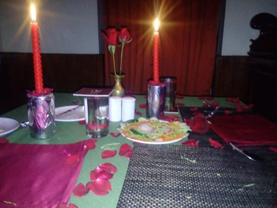 candle light dinner arrangement picture of summit swiss heritage rh tripadvisor co za