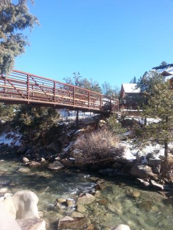 Nathrop, CO: bridge from pool