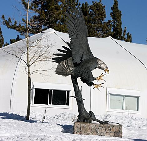 Juniper Springs Resort: Sculpture of Eagle at Eagle Lodge