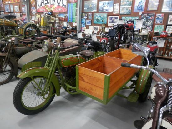 Nabiac, Australia: 1926 Harley Davidson with homemade sidecar