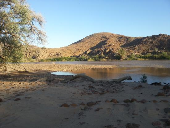 Camp Syncro: view from Camp Syncro over the Kunene