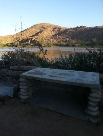 Camp Syncro: view from campsite over the Kunene