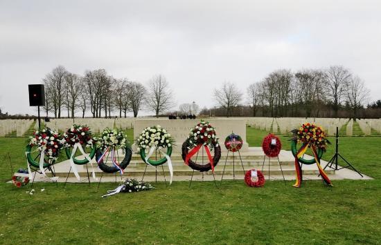 Groesbeek Canadian War Cemetery: Placed Garlands after the memorial
