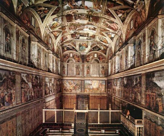 バチカン宮殿の中にある礼拝堂で壁画が有名です. - システィーナ礼拝 ...