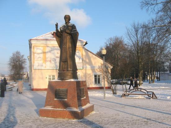 Polotsk, Belarusia: Хороший памятник святому