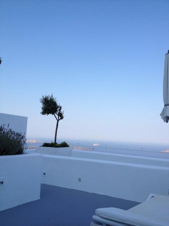 Grace Santorini Hotel: terrasse privée vue grandiose............