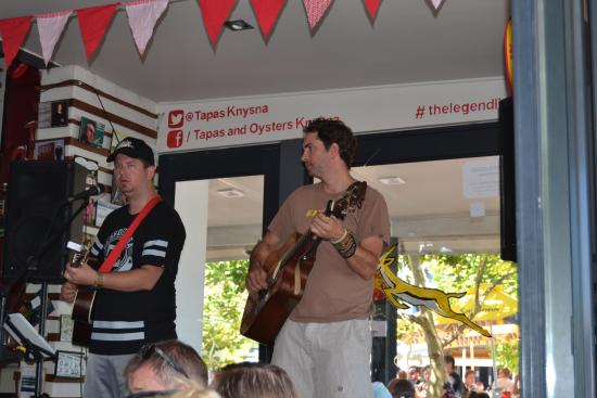 Live music. Two very talented guys.