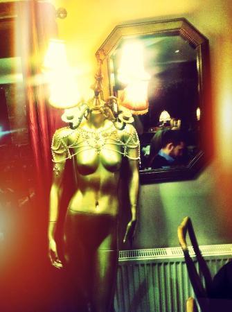 Mannequin Lamp mannequin lamp in the restaurant - picture of the brit pub