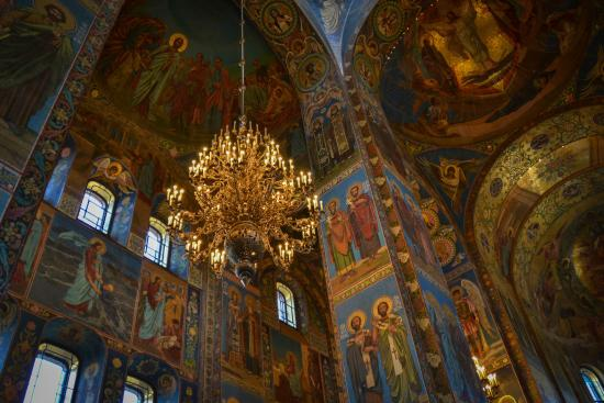 St. Petersburg, Russia: Church of the Saviour on Spilled Blood interior