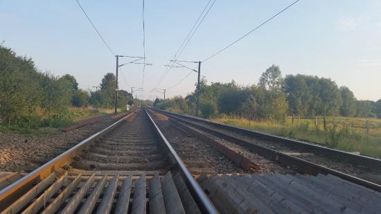Hinxton, UK: Bela Imagem da estrada de ferro perto do