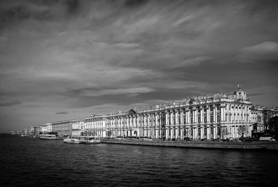 St. Petersburg, Russia: Hermitage from the river Neva