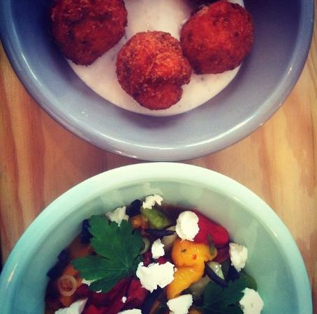 Balls: Boulettes au poulet sauce yaourt