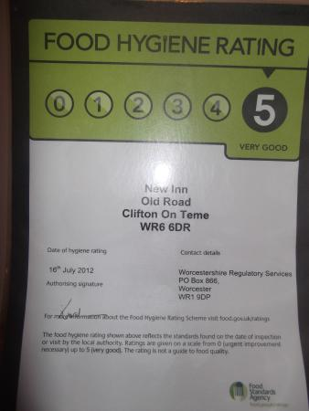 Clifton-upon-Teme, UK: 5* stars on the door from MHDC
