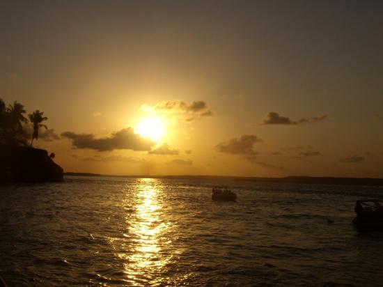 Novo Brasil, GO: Natal -  pôr-do-sol