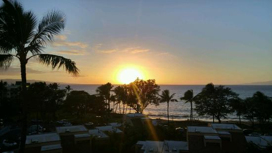 Kamaole Beach Royale Resort, ( #608): Sunset view from the room