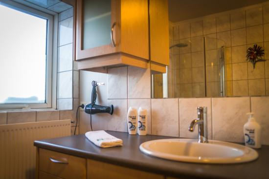Eyrarbakki, Islandia: Each apartment has a private bathroom with shower