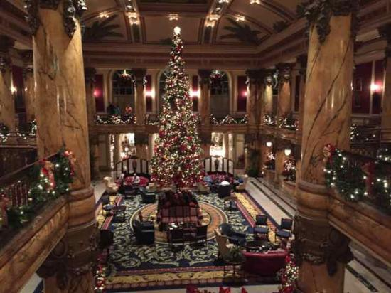 The Lobby Of The Hotel During Christmas Picture Of The Jefferson Hotel Richmond Tripadvisor