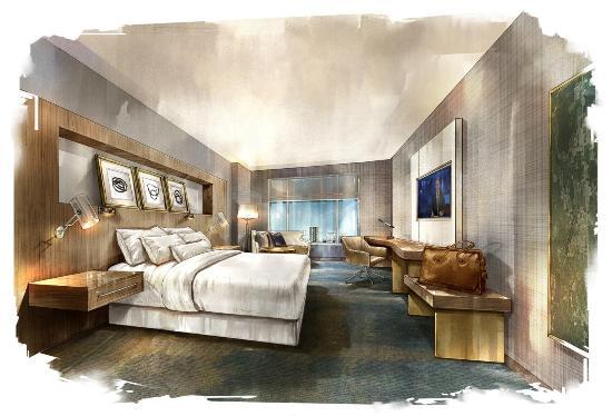 The Woodlands, TX: King Bedroom Rendering