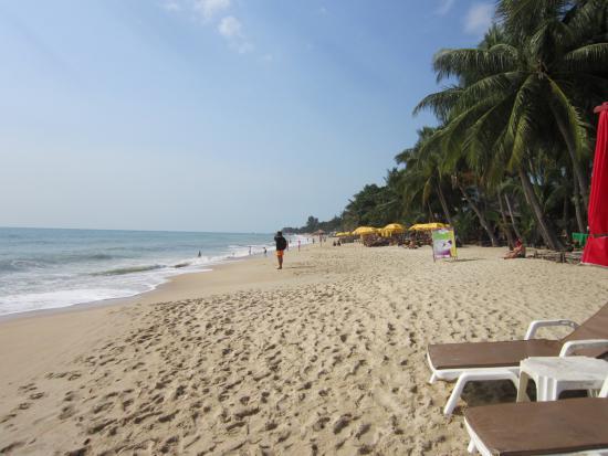 Weekender Resort & Hotel: Strandblick von dem Liegeplatz