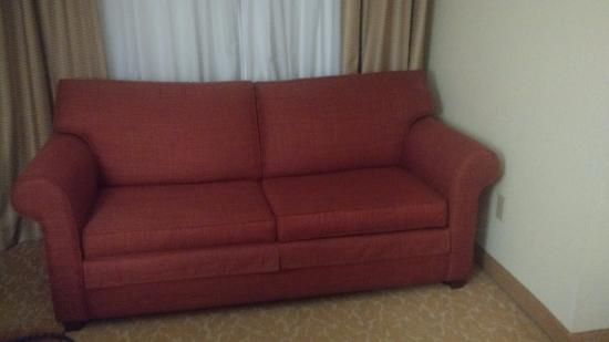 sofa in room picture of country inn suites by radisson atlanta rh tripadvisor com