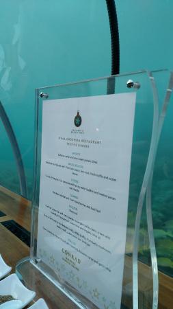 Conrad Maldives Ithaa Restaurant Picture Of Ithaa Undersea