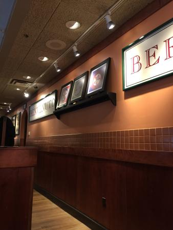 Bertucci's: classy inside box type devided