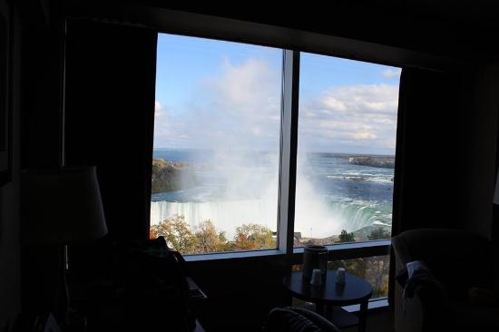 Oakes Hotel Overlooking the Falls: View from our room on the 11th floor