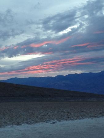 Badwater: coucher de soleil
