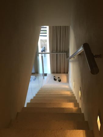 Hideaway At Royalton Riviera Cancun: Ocean View Luxury Suite Stairs Leading  To Rooftop