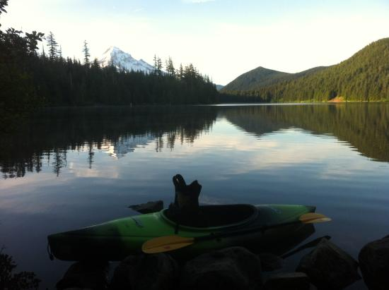 Hood River, OR: First one on the lake 6am on a late June 2015 morning