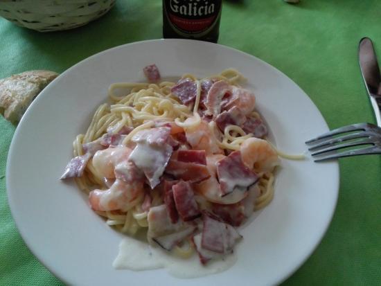 Abanillas, Испания: Pasta con gambas