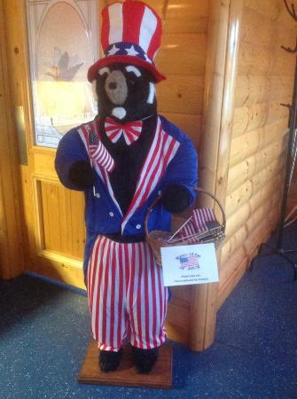 Stockton, IL: Bears greet you and are in costume for each holiday