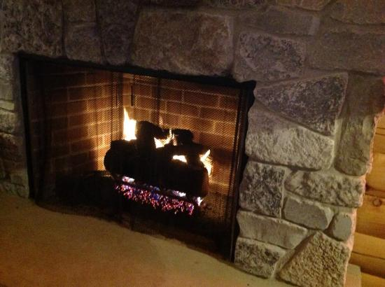 Stockton, IL: warm cozy fireplace.