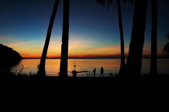 Culion, Filipinler: sunset on Cabulihan
