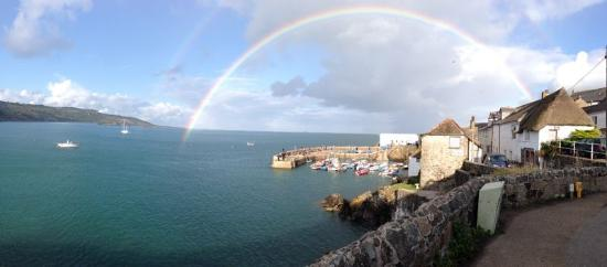 Rainbow at Coverack, Corwall