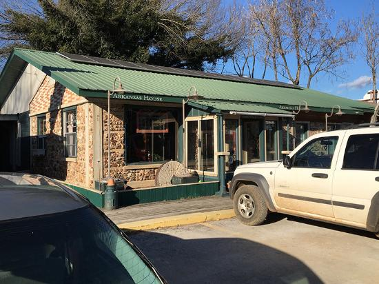 Jasper, AR: The front view of the Arkansas House Cafe